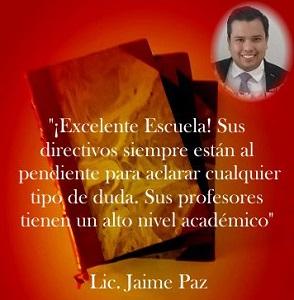 Imagen Opinión Alumnos Jaime Paz